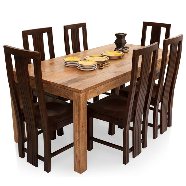 Gresham capra 6 seater dining table set thearmchair for 6 seater dining table