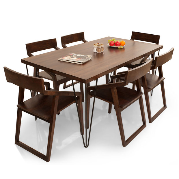 Oslo dulwich 6 seater dining table set thearmchair for 6 seater dining table