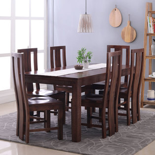 Gresham-Capra 6 Seater Dining Table Set