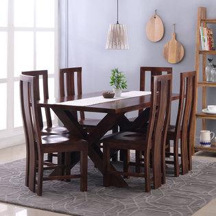Clovis-Capra 6 Seater Dining Table Set