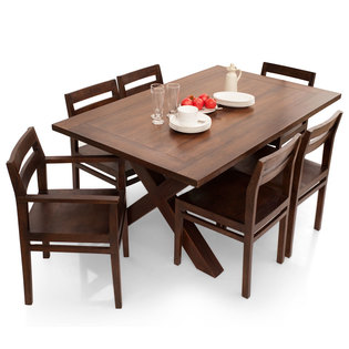 Clovis-Barcelona 6 Seater Dining Table Set(With Armchair)