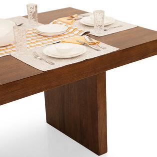 Jordan capra 6 seater dining table set walnut frtbdt11wn10027 4 hover