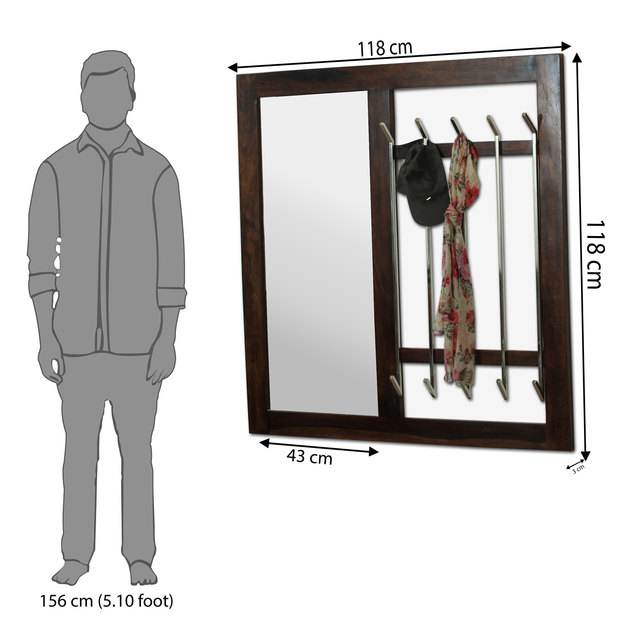 Ancona coat hanger with mirror frstbs12mh10025 d