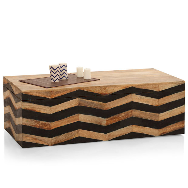 Herringbone Storage Coffee Table