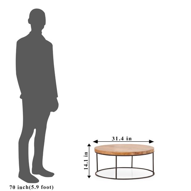 Fargo round coffee table metal legs frtbcf11nb10020 3