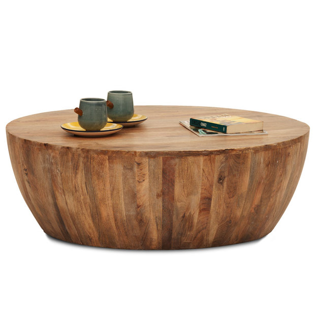 Drum Shaped Coffee Table.Drum Coffee Table