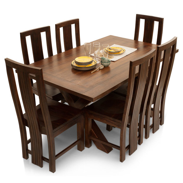 Clovis capra seater dining table set thearmchair