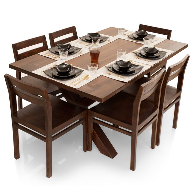 Clovis-Barcelona 6 Seater Dining Table Set
