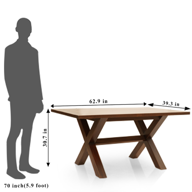 Clovis barcelona 6 seater dining table set frtbdt11wn10016 6 dimension