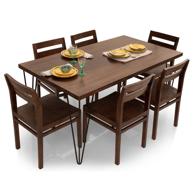Oslo-Barcelona 6 Seater Dining Table Set