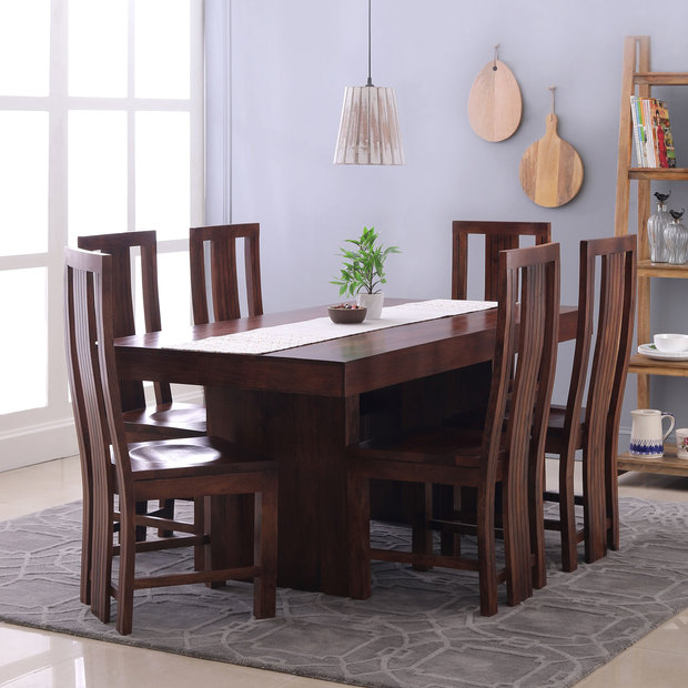 Jordan Capra 6 Seater Dining Table Set TheArmchair