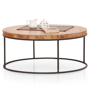 Fargo Round Coffee Table (Metal Legs)