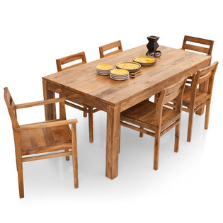 Gresham-Barcelona 6 Seater Dining Table Set(With Armchairs)