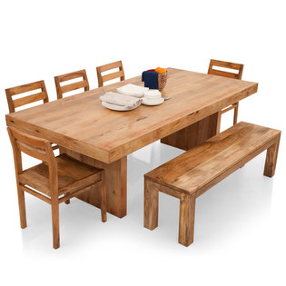 Jordan-Barcelona 8 Seater Dining Table Set(With Bench)