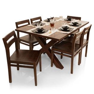 Clovis-Barcelona 6 Seater Dining Table Set